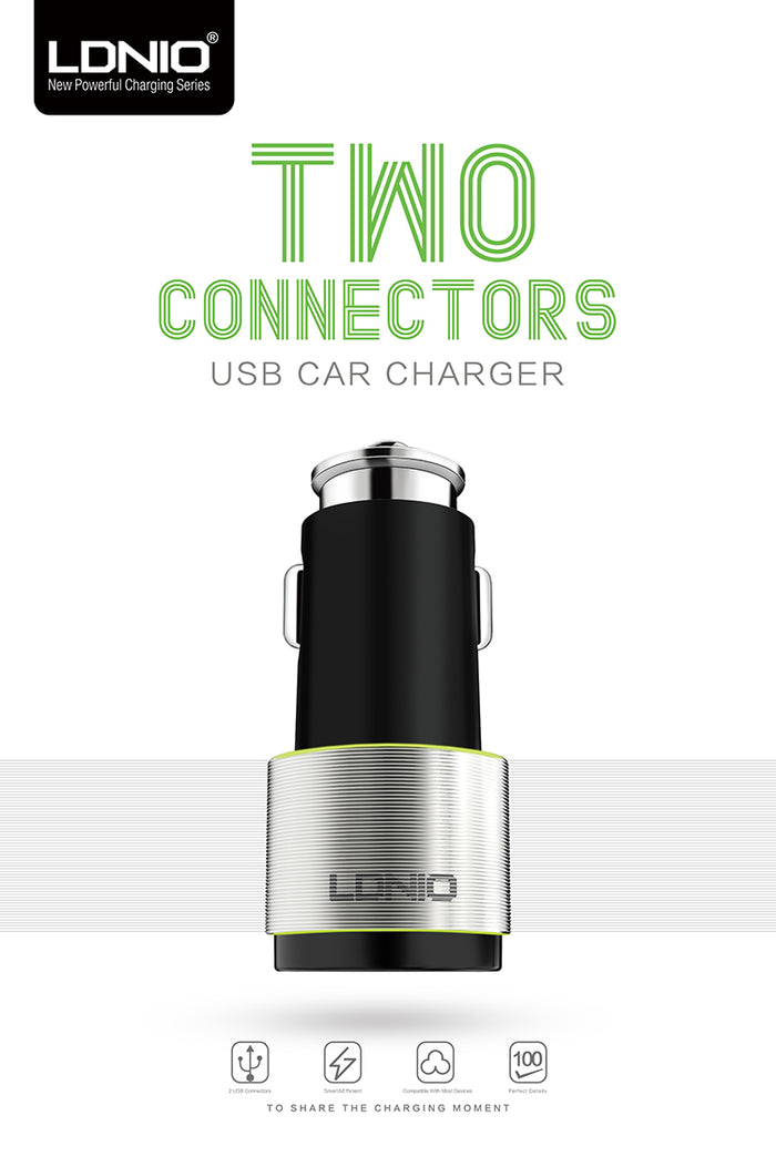 Incarcator auto LDNIO Quick Charge Dual-usb port