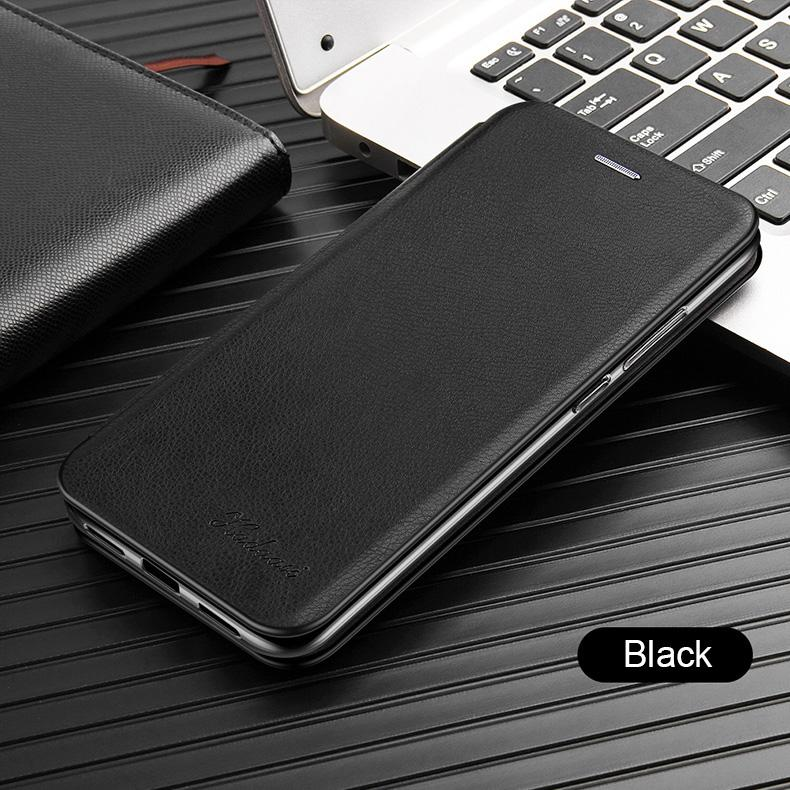OFERTA Husa Flip Leather cu inchidere magnetica + Folie Full Cover 5D Huawei P Smart 2019