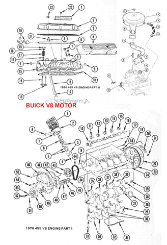 68-81 BUICK V8 ENGINE PARTS