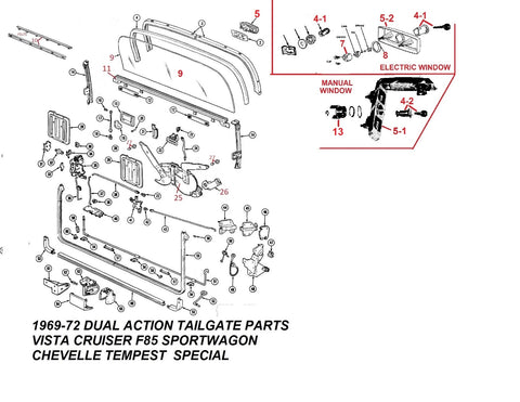 69-72 A-BODY WAGON TAILGATE & PARTS