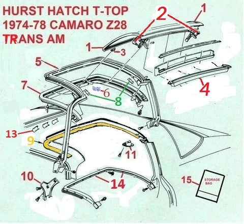 76 77 78 FIREBIRD TRANS AM HURST T TOP PARTS – Chicago Muscle Car