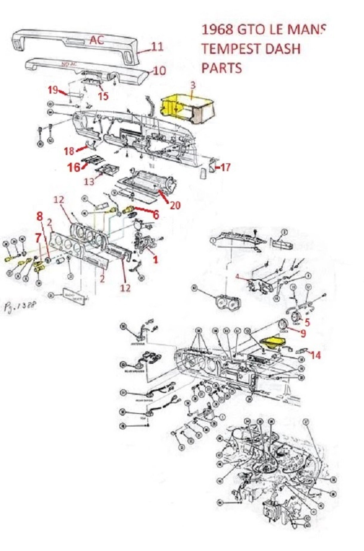 1968 GTO LEMANS TEMPEST DASH PARTS – Chicago Muscle Car ... Ignition Switch Wiring Diagram For Gto on 1968 corvette ignition switch, 1965 impala ignition switch, 1969 firebird ignition switch, 1969 gto ignition switch, 1967 chevelle ignition switch, 1970 chevelle ignition switch, 1967 gto ignition switch,