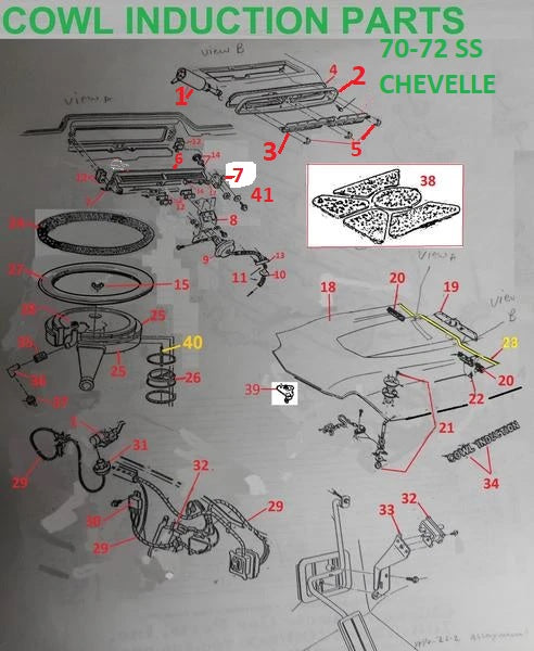 cowl induction wiring harness schematic  auto wiring