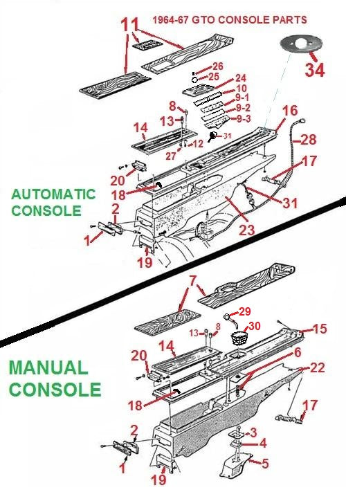 Details about  /RestoParts Manual Shifter Boot w//o Console 1966-1967 GTO Tempest Lemans