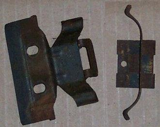 HEATER CORE MOUNTING CLIPS ,NO AC PAIR USED 64-72