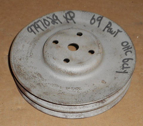 FAN PULLEY, OHC6 ,2 GROOVE, USED, 69 FIREBIRD TEMPEST