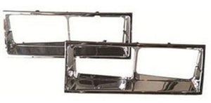 HEADLIGHT BEZELS, PAIR, NEW 81-88 CUTLASS