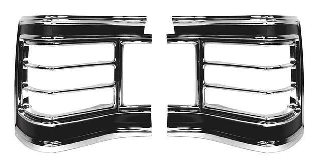 TAIL LIGHT BEZELS, PAIR, NEW, 67 CHEVELLE