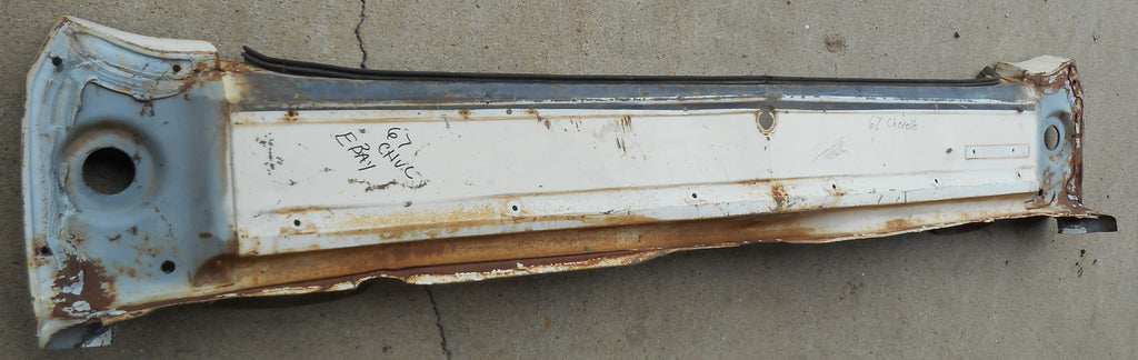 REAR TAILLGHT PANEL, USED STEEL 67 CHEVELLE