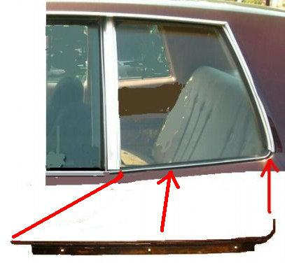 QTR WINDOW MLDG LWR LH 78-80MCMNTS ON QTR  HORAZITAL  USED