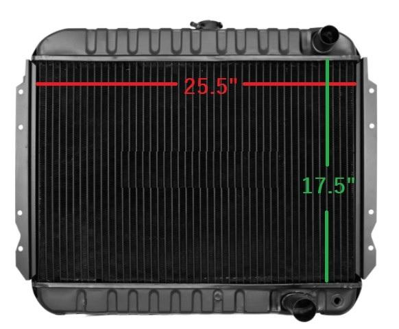 "RADIATOR, MANUAL TRANS 17.5"" X 25.5"" X 2-5/8"" THICK, 4 ROW DOWN FLOW, 396 409 NEW"