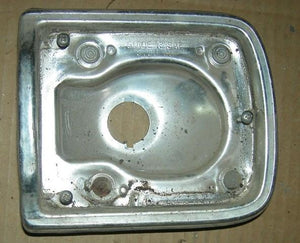 TAILLAMP HOUSING RH 65 ALUMINUM BEZEL  USED