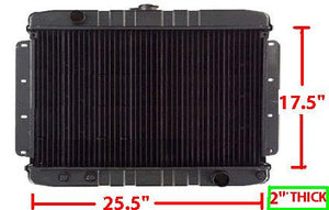"RADIATOR, AT ,SB 3 ROW, 17.5"" X 25.5"", NEW, 69-70 IMPALA"