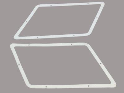 FENDER SCOOP OR LOUVER GASKETS, PAIR, NEW