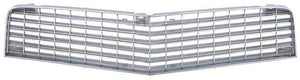 FRONT GRILLE, UPPER, SILVER, FOR BERLINETTA, NEW