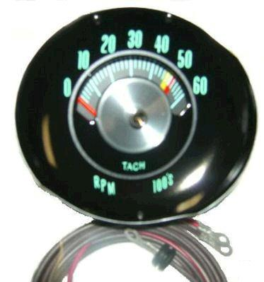 DASH TACH, 5K TO 6K REDLINE, NEW 64 65 CHEVELLE