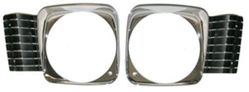 HEADLIGHT BEZELS ,NEW PAIR 68 NOVA