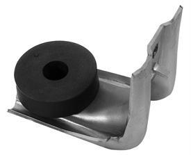 DOOR GLASS STOP, LOWER, FRONT, NEW, 70-72 GM A-BODY