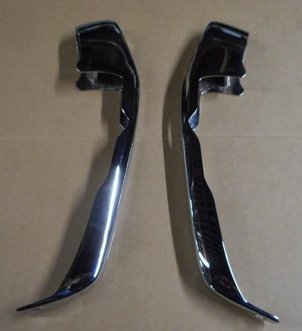 REAR BUMPER GUARDS PAIR REPLATED