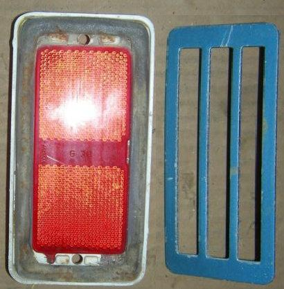 REAR MARKER LIGHT ASSEMBLY, 71-3 OLDS 98, EA, USED