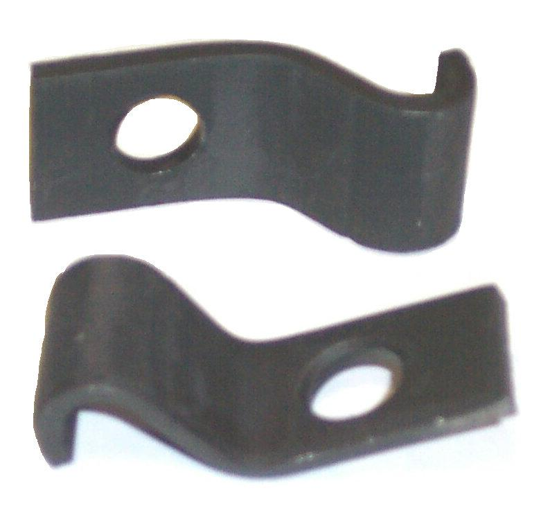 FRONT BUMPER GUARD CLIPS, 68-9 CH EL, PAIR OF BRACKETS, REPRO