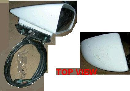 DOOR MIRROR, RH, SPORT, 86-8 MC EL, SPORT, REMOTE, PAINTED, USED