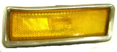 FRONT MARKER LIGHT, RH, 70-2 SK GS, AMBER LENS, w/HOUSING, USED