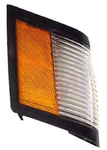 FRONT MARKER LIGHT, RIGHT, BLACK EDGE, NEW