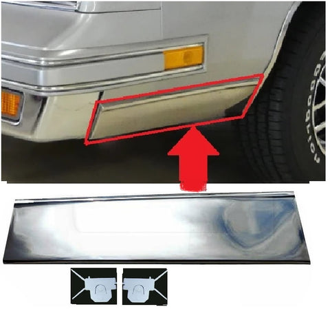 FENDER MOLDING ,FRONT LEFT NEW, 81-88 CUTLASS