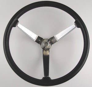 STEERING WHEEL ,FOAM, 3 SPOKES, NEW 73-77 PONTIAC