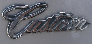 TRUNK LID EMBLEM ( CUSTOM ) NEW 68 69 SKYLARK