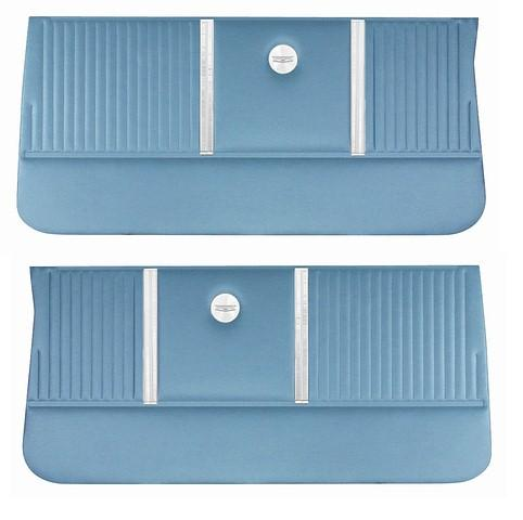 FRONT DOOR PANELS, UNASSEMBLED, ONLY PAIR,  AQUA
