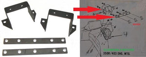 ENGINE MOUNTING BRACKETS KIT ,70-81 TRANS AM W/OLDS MOTOR