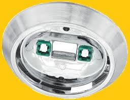 DOME LIGHT  HOUSING NEW, ROUND CHROME