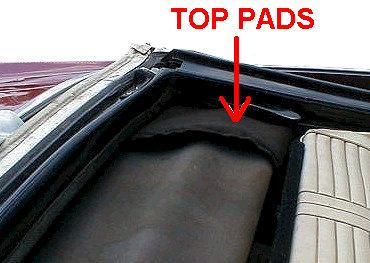 CONVERTIBLE TOP PADS, pair, new, 64-72 GM vehicles