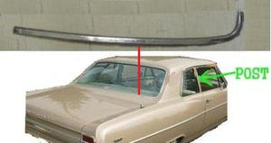 REAR WINDOW OUTSIDE MOLDING OR TRIM, RIGHT, SIDE, LOWER, SEDANS, USED