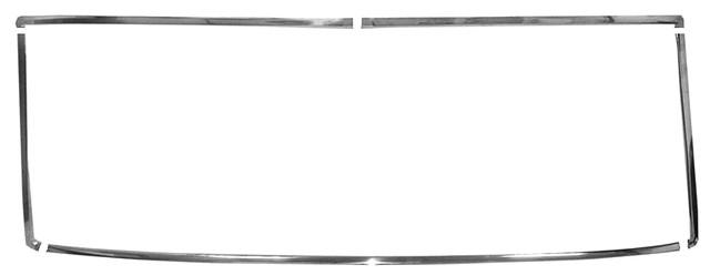 REAR WINDOW MOLDING SET, NEW, 64-65 CHEVELLE