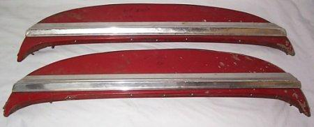 REAR WHEEL SKIRTS, 67-8 IMP, PR, USED