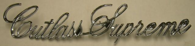 FENDER EMBLEM, (CUTLASS SUPREME) NEW, EACH