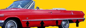 BODY SIDE MOLDING KIT, NEW, NON SS, 63 IMPALA
