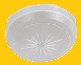 DOME LIGHT LENS, NEW, ROUND