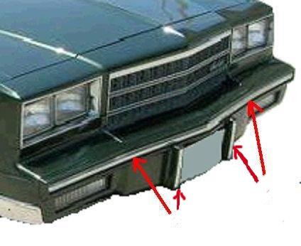 FRONT BUMPER CHROME STRIP ,NEW 81-88 MONTE CARLO