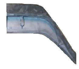 REAR SPOILER END, LH, 74-81 CA, USED