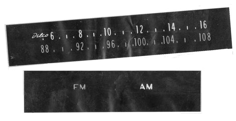 AM FM RADIO DIAL FACE DECAL, NEW 64-67 GTO