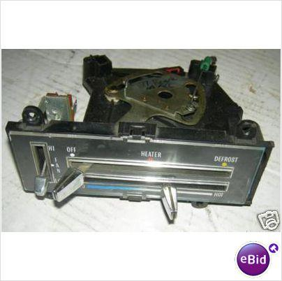 HEATER CONTROL, NO AC, 75-7 RE CENTURY, USED