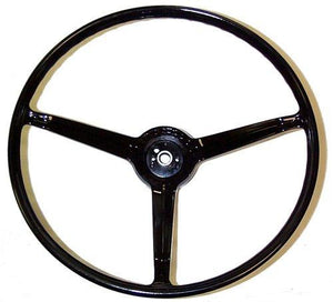 STEERING WHEEL, STD, 67 CA, REPRO, RIM ONLY, FOR STD INT, BLACK