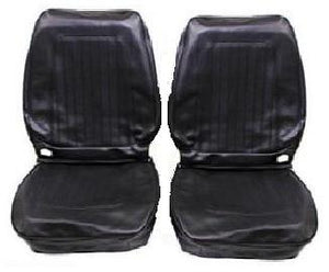 SEAT COVERS, BUCKETS ONLY, STANDARD,PAIR  BLACK