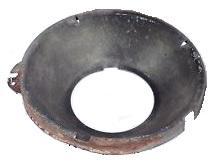 OUTER HEADLIGHT MOUNTING BOWL, BUCKET CAPSULE, USED