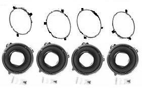 HEADLIGHT MOUNTING BUCKETS & RINGS SET, NEW 58-72