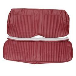 SEAT COVER, REAR, CONVERTIBLE, STANDARD INTERIOR, 2 PCS, RED